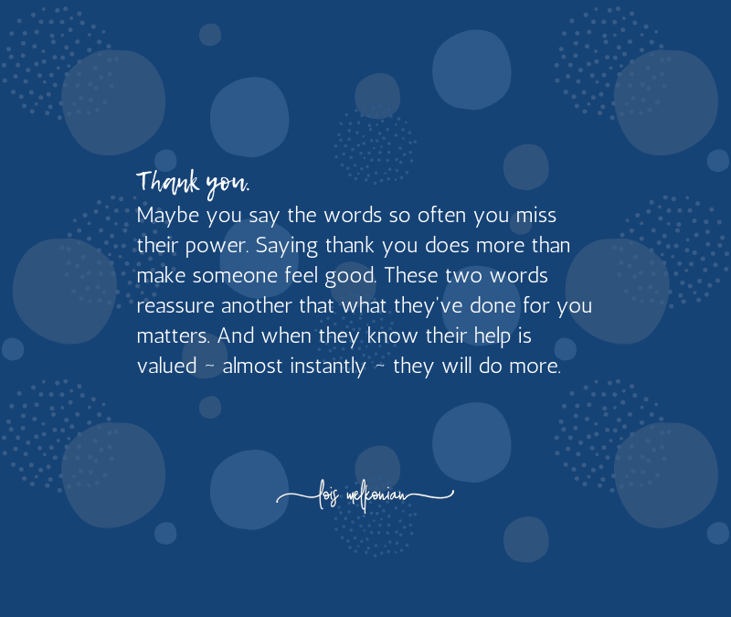 The Snowball Effect of Saying Thank You